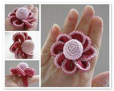 Beautiful crochet ring ❤ by tintocktap, via Flickr