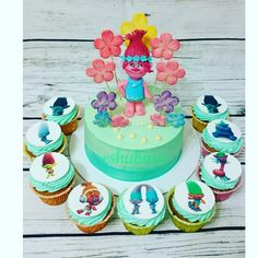 Тролли.Розочка Trolls Birthday Party, Troll Party, 2nd Birthday, Birthday Parties, Bolo Trolls, Trolls Cakes, Turtle Cakes, Girl Cakes, Childrens Party