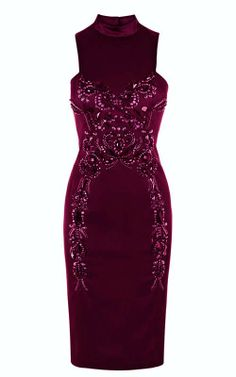 Beaded Slim Dress_Dresses(d)_DESIGNER_Voguec Shop