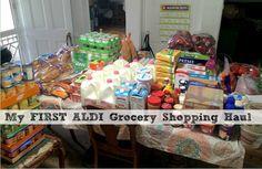 My First Aldi Grocery Shopping Haul + Two Week Costco Haul!