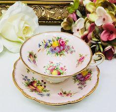 E B Foley teacup and saucer.