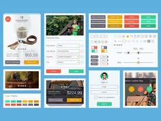 Online Store UI Kit - 365psd - flat design, ecommerce
