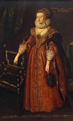 After Gerrit van Honthorst (Utrecht 1590-Utrecht 1656) - Elizabeth, Queen of Bohemia (1596-1662)