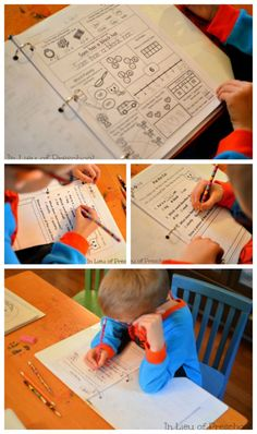 Printable Homework and Morning Work – and how I'm using it in my kindergarten homeschool!