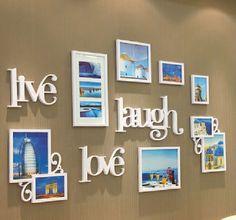 写真立て/壁掛けデザインフォトフレームコンビネーションフォトフレーム雑貨/海外輸入/インポート結婚祝い/新築祝い/プレゼント【photo-0001】|ROOM - my favorites, my shop 好きなモノを集めてお店を作る Picture Frames, Gallery Wall, New Homes, Layout, Interior, Room, Pictures, Home Decor, Portrait Frames
