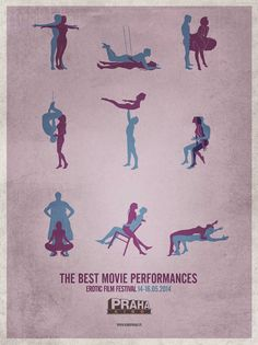 Great-Ads: Erotic Film Festival Print Campaign - Kino Praha: The Best Movie Performances
