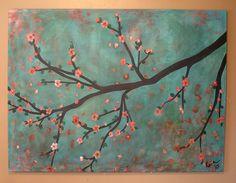 Custom Cherry Blossom Painting by kristen dougherty, via Flickr
