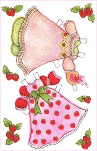 Strawberry shortcake sweetheart dolls!  LOVE em!  Lots of other great doll cards here too.  :)  People are so nice to share wonderful things.