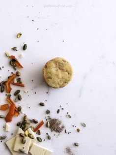 Orange, Cardamom, Pistachio & White Chocolate Shortbread