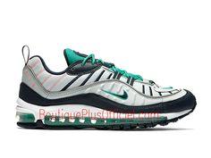 best website 792ca 232be Nike Air Max 98 Chaussures Officiel 2019 Prix Pas Cher Pour Homme Blanc  Vert 640744-