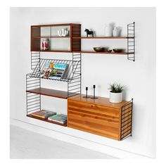 Vintage String Shelving Unit - Mid Century Modern, designed by Nils Strinning. WANT!