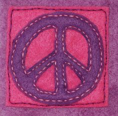 Hand-sewn Peace Sign
