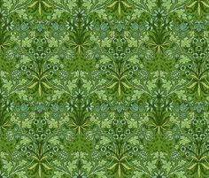 Green Foiliage fabric by chantal_pare on Spoonflower - custom fabric