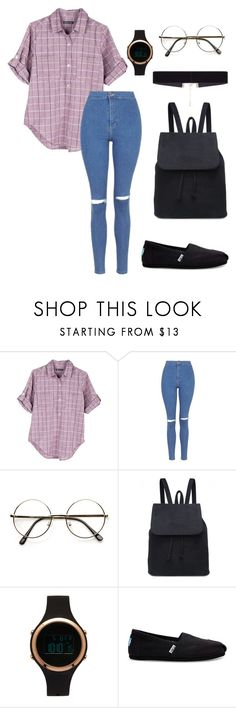 """""""casual.0.30"""" by joannachavez8 on Polyvore featuring United by Blue, Topshop, ZeroUV, Aéropostale, TOMS and 8 Other Reasons"""