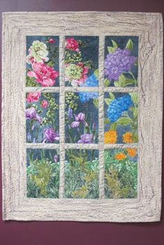 Ideas Wall Hanging Flower Quilt Patterns For 2019 Colchas Quilting, Quilting Projects, Quilting Designs, Small Quilts, Mini Quilts, Easy Quilts, Attic Window Quilts, Flower Quilts, Landscape Quilts