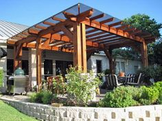 Patio cover that still lets the sun in for Northwest summers.