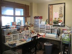 pictures of organized scrapbook rooms - Google Search