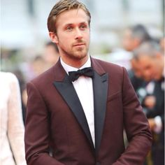 Burgundy tux with black lapel