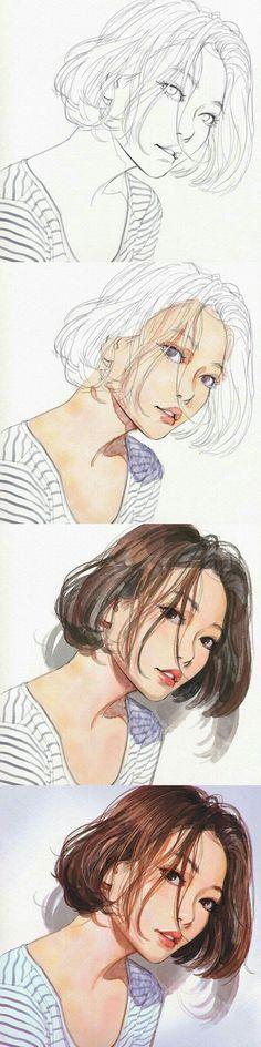 Zeichnung, Illustration, Farbe