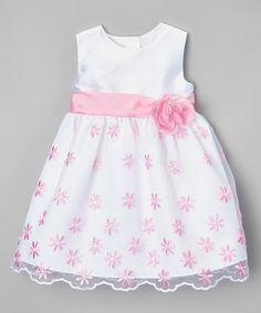 This Pink & White Flower Dress - Infant by Rosenau Beck is perfect! #zulilyfinds