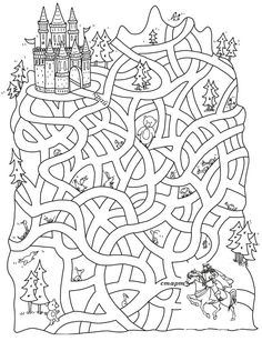 Free Printable Mazes for Kids Learning Activities, Kids Learning, Activities For Kids, Colouring Pages, Coloring Books, Mazes For Kids, Hidden Pictures, Activity Sheets, Preschool Worksheets