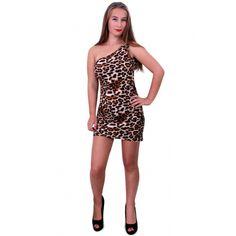 Dit jurkje met panterprint is gemaakt van 80% polyester en 20% elastaan en is geschikt voor dames. Normale pasvorm.