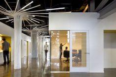 loha skid row housing trust :: twisting light fixtures around column