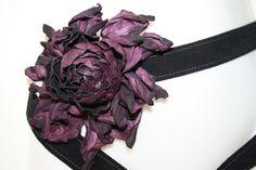 leather belt with leather flower  leather von NatalieSerge auf Etsy, $67.19