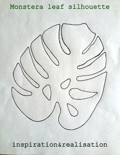 DIY t-shirt tropicana style - monstera leaf silhouette. Forget putting it on a shirt, I want to use it as wall stencils