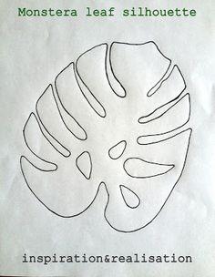 DIY t-shirt tropicana style - monstera leaf silhouette