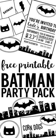 Free Batman Invitation Template Batman invitations Batman party