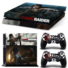 PS4 Tom Raider Skin Sticker for Console & Controllers ( 6 variants )