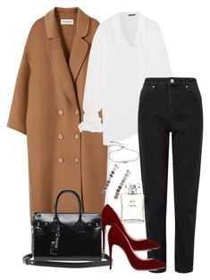"""""""Untitled #4775"""" by theeuropeancloset ❤ liked on Polyvore featuring Yves Saint Laurent, Ann Demeulemeester, Miss Selfridge, Christian Louboutin, Monica Vinader and Chanel"""