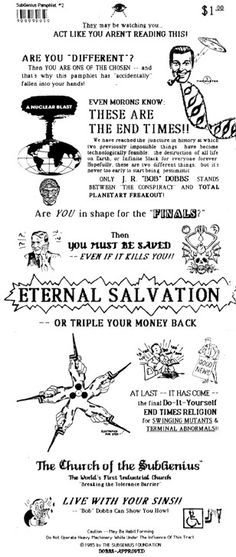 Image detail for -SubGenius™ Pamphlets