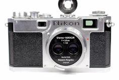 Nikon Stereo-NIKKOR 1:3.5 3.5cm Lens 241929 & S2 Rangefinder Camera