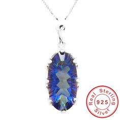 HUGE 11ct Genuine Rainbow Fire Mystic Topaz Pendant Only $38.8 => Save up to 60% and Free Shipping => Order Now! #Bracelets #Mystic Topaz #Earrings #Clip Earrings #Emerald #Necklaces #Rings #Stud Earrings