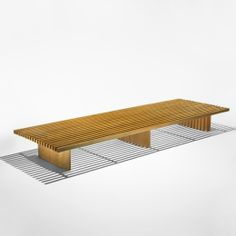 Charlotte Perriand Tokyo bench Galerie Steph Simon France , 1954 oak 89 w x 30 d x 10 h inches Provenance: Collection of Annie Leibovitz, NY s34