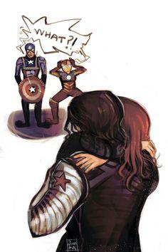 Winter Soldier / Bucky Barnes  & Black Widow