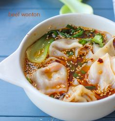 Beef Wonton Soup--This makes a great dinner or appetizer!
