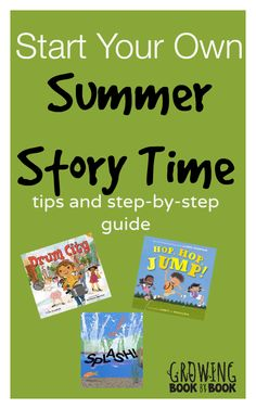 Fun Summer Activities: Under a Shady Tree Story Time from @Jodie White White Rodriguez @ Growing Book by Book