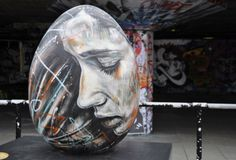 Graffiti_Street Art_Easter Easter egg by David Walker created for the Faberg