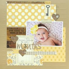 The first thing you need to know about making a scrapbook is that it isn't a complicated process at all. Scrapbooking isn't just for the 'crafty' person among Baby Boy Scrapbook, Bridal Shower Scrapbook, Album Scrapbook, Paper Bag Scrapbook, Baby Scrapbook Pages, Birthday Scrapbook, Scrapbook Sketches, Scrapbook Page Layouts, Scrapbook Supplies