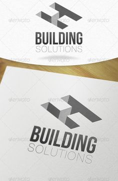 Building Solutions H Letter Logo - Love the bold and slim line font with this logo