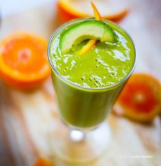 Anti-Inflammatory Orange Avocado Smoothie..  Are you ready to start eliminating chronic inflammation so you can enjoy vibrant health?   You'll need:  3 cups coconut water  1 medium avocado—seeded and peeled ½ tsp turmeric powder  ¼ tsp cinnamon  1 tsp fresh grated ginger  2 cups organic spinach  1 tsp raw honey  fresh orange juice