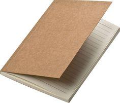 Notes A6 z okładką z papieru z recyklingu Gadżety Reklamowe - tanie gadżety, nadruki na gadżetach reklamowych, artykuły reklamowe, odzież re...
