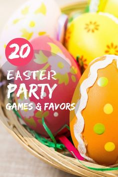 20 Easter Party Games and Favors ideas for Easter Sunday festivities.