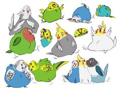 i haven't drawn anything in nearly two weeks and then fat dumb burds