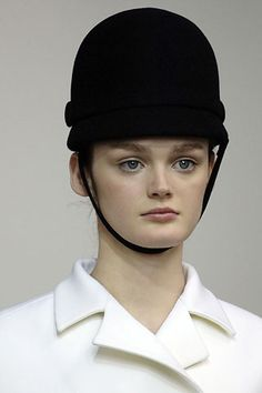 Jockey hat from Balenciaga by Nicolas Ghesquière Fall 2006