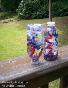 No Twiddle Twaddle: Fireworks in a Bottle: A Simple Patriotic Craft for Preschoolers