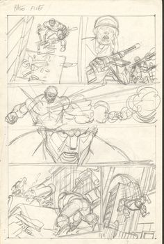 Gil Kane  - Defenders Giant Size #2 pg 05 layouts Comic Art